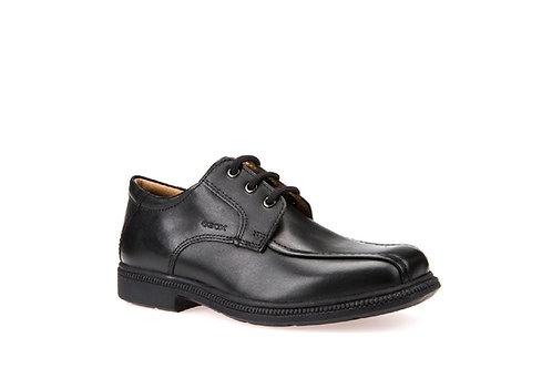Geox Federico H black leather school shoe