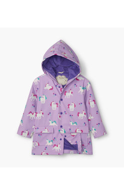 Hatley Playful unicorn colour changing raincoat