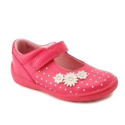 Start-Rite Super Soft Daisy Bright Pink First Walking Shoe