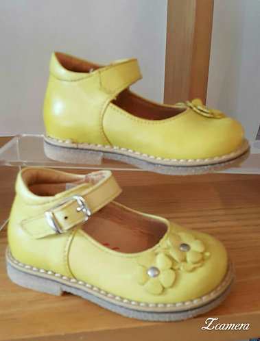 Froddo Yellow Mary Jane T-Bar Buckle shoe