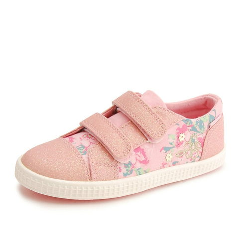 Start-rite Edith rip tape pink canvas casual shoe