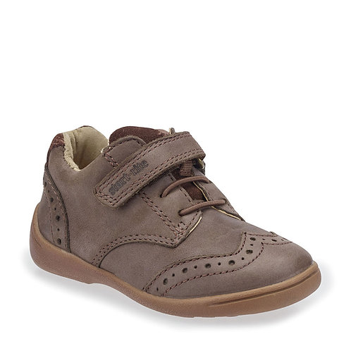Start-Rite Hugo Brown Leather Riptape First Walking Casual Shoes