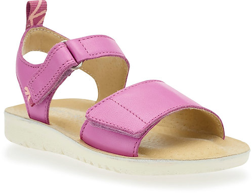 Start-rite Buzz Pink Leather Rip Tape Sandals