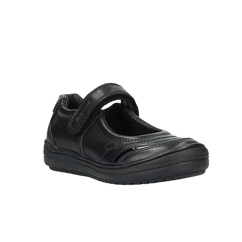 Geox Hadriel Mary Jane Rip Tape School Shoe