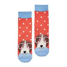 Joules Pink spotty dog socks