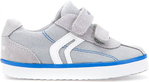 Geox Grey Kilwi Canvas Trainer Shoes