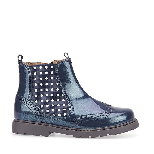 Startrite Navy Patent Chelsea boot