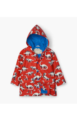 Hatley painted dino colour changing raincoat
