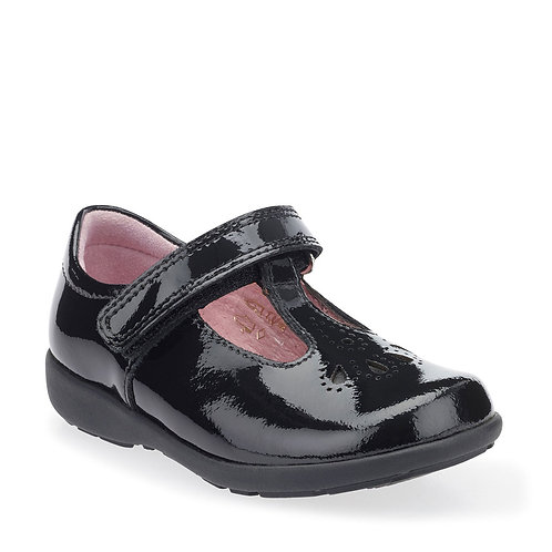 Start-rite Daisy May Black Patent Leather T-Bar School Shoe