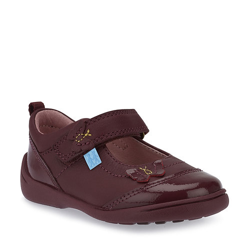 Start-rite Swing Wine Leather Patent Mary Jane Casual Shoe