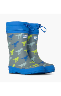 Hatley T-Rex Sherpa Lined welly