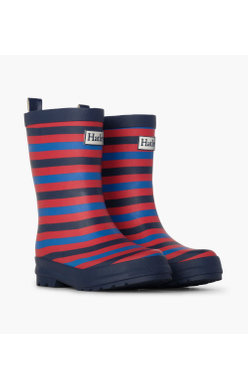 Hatley Navy Stripe Welly
