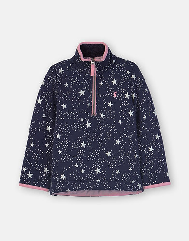 Joules Navy star half zip fleece