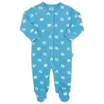 Kite Polka Farm blue Sleepsuit
