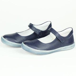 Primigi Fiore Navy Leather Mary Jane Casual Shoes