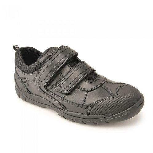 Start Rite Oliver Double Rip-Tape Bumper Toe Leather School Shoe