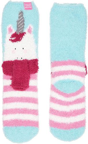 Joules Unicorn Fluffy Socks