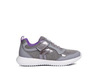 Geox Waviness Violet Grey Sports Rip Tape Trainer