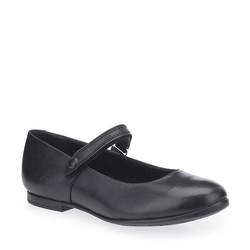 Start-rite Florence Black Leather Rip Tape School Shoes