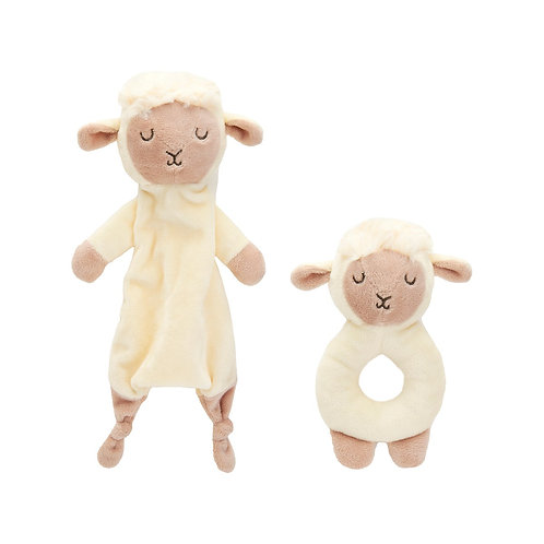 Sass & Belle Baa Baa Lamb Comforter and Rattle