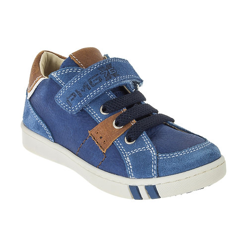 Primigi Boy's Blue Rip Tape Trainer Shoe w/ Elasticated Laces