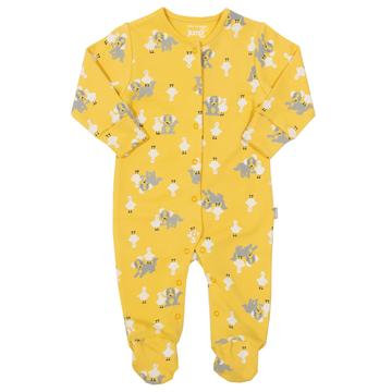 Kite pup and duck yellow sleepsuit