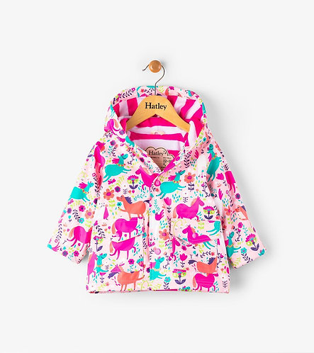 Hatley Roaming Horses Fleece Lined Raincoat