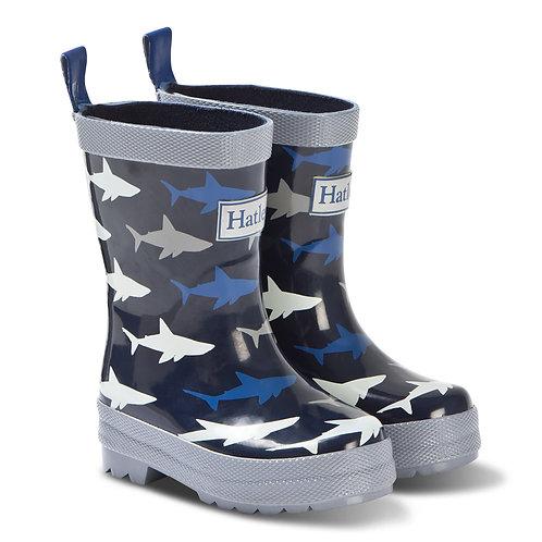 Hatley Shark Rubber Wellingtons