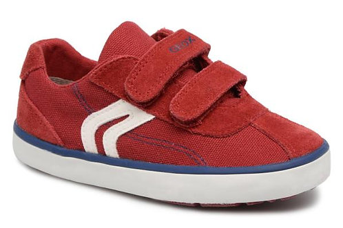 Geox Red Kilwi Canvas Trainer Shoes