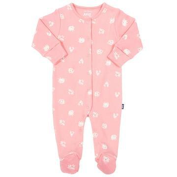 Kite Polka Farm Pink sleepsuit