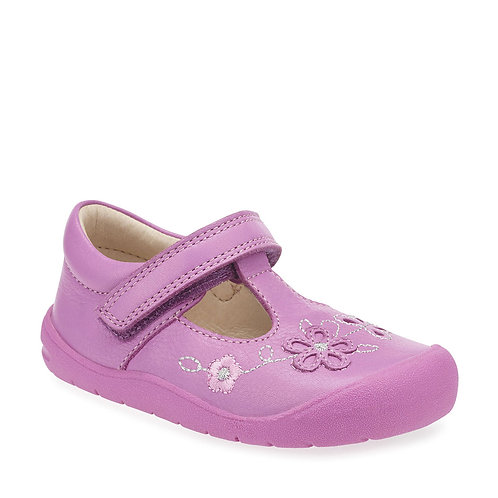 Start-rite First Mia in Bright Pink Leather First Walking Shoes