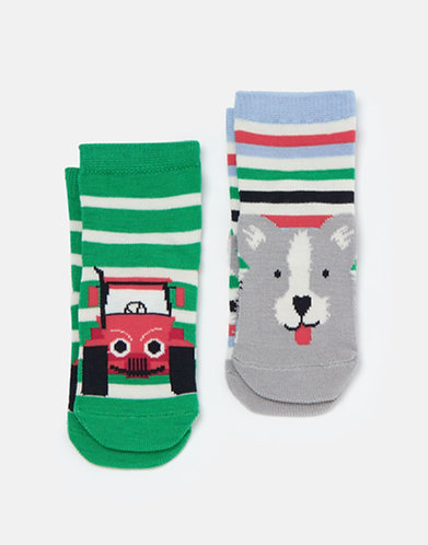 Joules Dog/Tractor Baby Socks