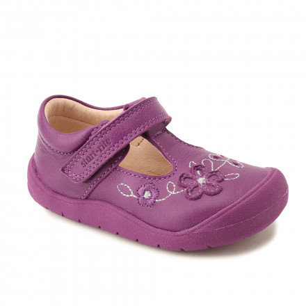 Start-rite First Mia in Berry Leather First Walking Shoes