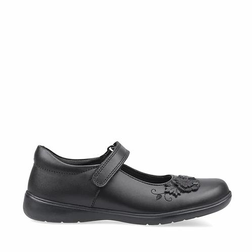 Startrite Wish Black Leather School shoe