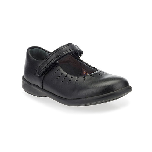 Start-rite Mary Jane Black Leather Rip-Tape School Shoe