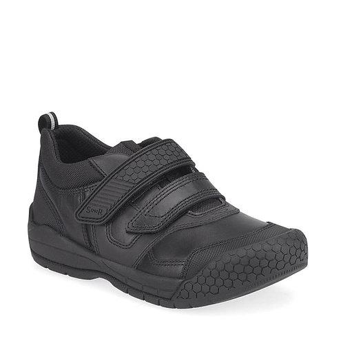 Startrite Strike black leather school shoe