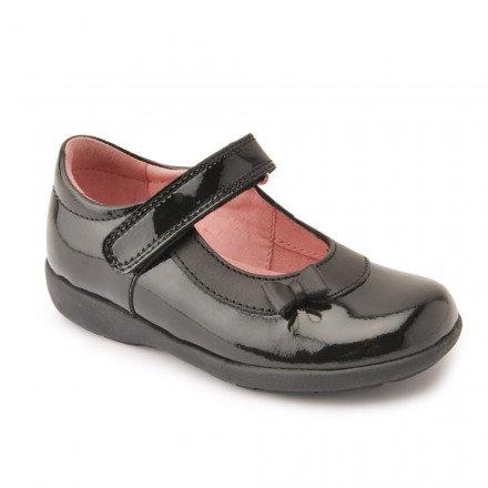 Start rite Maria Patent Rip Tape School Shoe