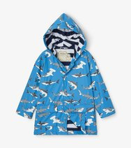 Hatley Deepsea Sharks Colour changing raincoat