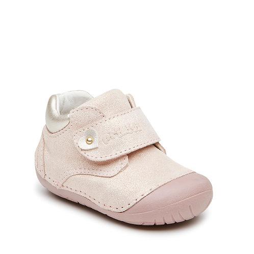 Primigi Pink Shimmer Leather Pre Walker Shoe Boot