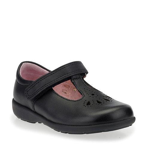 Start-rite Daisy May Black Leather T-Bar School Shoe