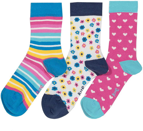 Kite 3 pack Flower Socks