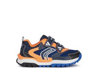 Geox Tuono Navy & Orange Trainer