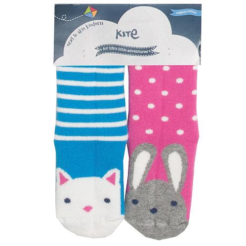 Kite Bunny/Cat Grippy Socks