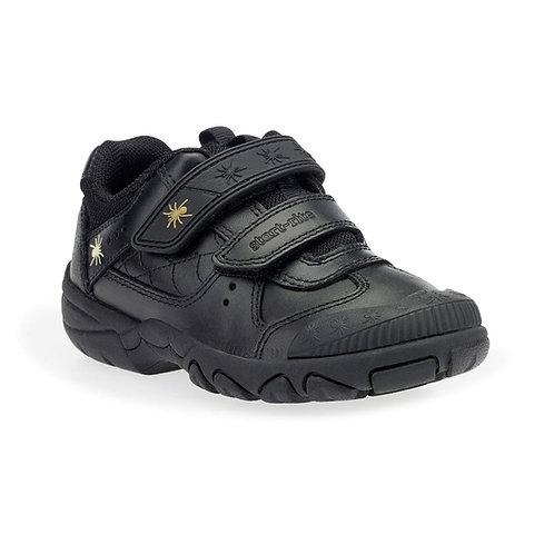 Start-rite Tarantula Black Leather Rip Tape School Shoe