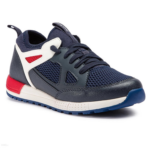 Geox Alben Navy/Red Trainer