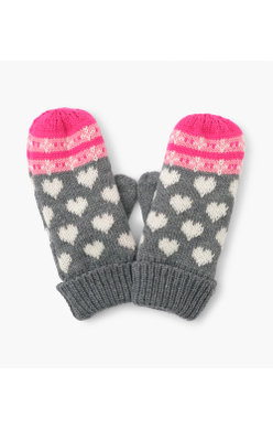 Hatley Winter Hearts Mittens