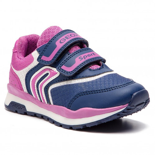 Geox Pavel Navy Fuchsia Trainer