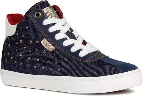Geox Kilwi Denim Zip High Top Sneaker