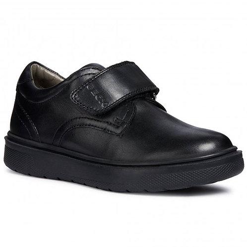 Geox Riddock Rip Tape Black School Shoe