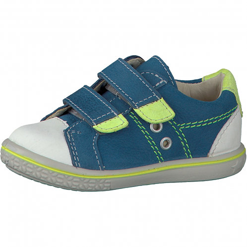Ricosta Nipy Blue Leather Rip Tape Trainer Casual Shoe